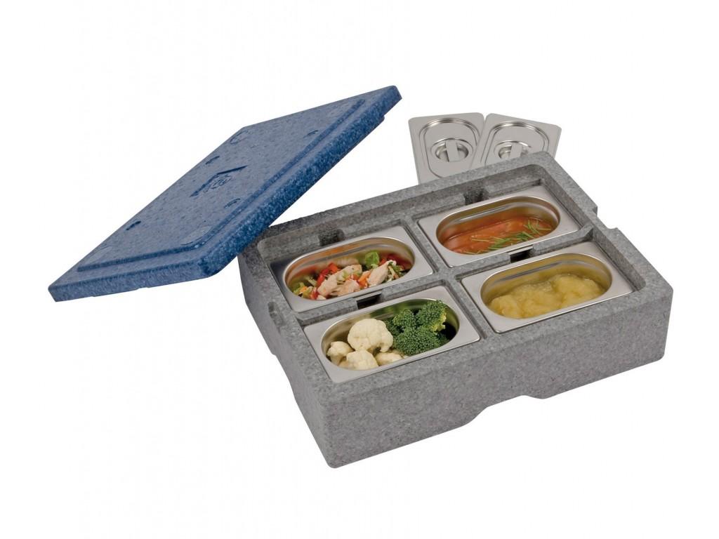 Warmhoudbox voor 4 x1/9 GN bakken