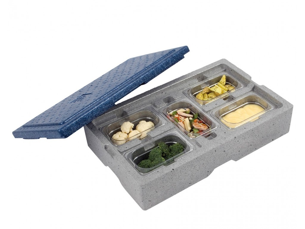 Warmhoudbox voor 5 x1/9 GN bakken
