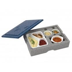 Warmhoudbox 4-vaks disposable inzet